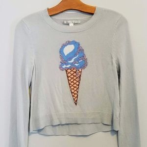 Lauren Conrad Beaded Ice Cream Cone Sweater
